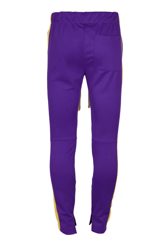 Mersenne Men's Casual Skinny Striped Track Pants