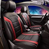 97 honda accord accessories - FH Group Leatherette Red and Black Car Seat Cushions PU208RED102 Set of 2 Airbag Compatible