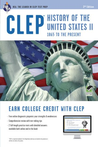 CLEP® History of the U.S. II Book + Online (CLEP Test Preparation) (Clep History Of The United States compare prices)