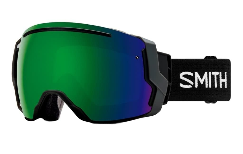 Smith Optics Adult I/O 7 Snowmobile Goggles Black / ChromaPop Sun Green Mirror by Smith Optics