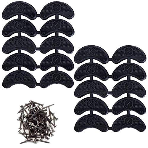 STARVAST 10 Pairs Shoe Heel Plates Tap Tips Repair Pad Replacement Toe Plates Boot tips with Nails
