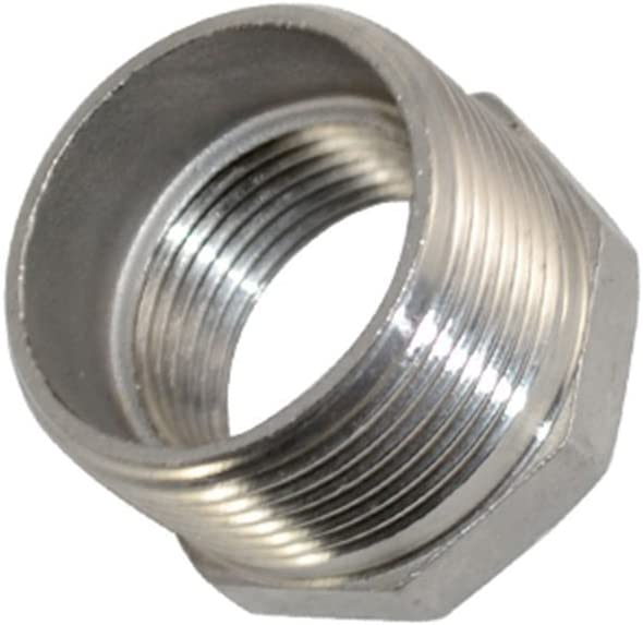 Megairon 1 x 3//4 Male Threaded Reducing Nipple Fitting//Adapter,Stainless Steel SS304 NPT Pipe Hex Reducer