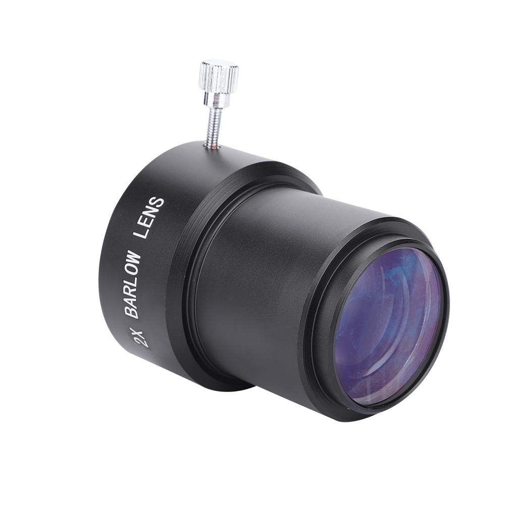Acouto 2 Inch 2X Magnification M42 Thread Barlow Lens, Clear Image Digital Telescope Camera Electronic Entry Level Eyepiece