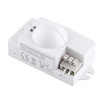 1pc 360 Degree 500W Radar Interruptor de luz de microondas ...