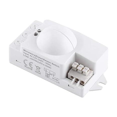 Interruptor De Luz De Radar Interruptor De Luz De Microondas De 360 Grados Detector