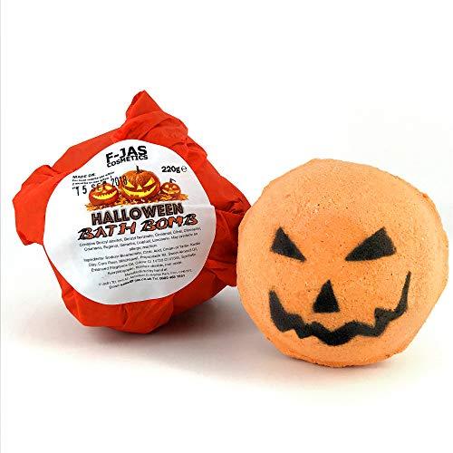 (Halloween Pumpkin Jack o' Lantern Bath Bomb)