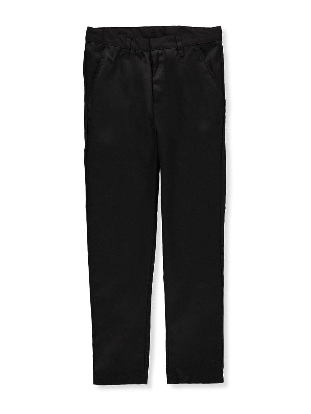 Black Galaxy Big Boys Flat Front School Uniform Pants 18