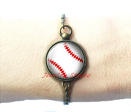 Baseball, sport,Fashion silver Bracelet jewelry, Bracelet clip, wedding gift,Baseball Jewelry,Baseball Accessories,Personalized Baseball,Gifts for Her-HZ00313