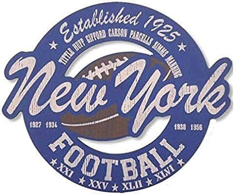 e37e99922 Amazon.com  New York Giants Vintage Style Wood Cut Out Sign-15x18  Sports  Collectibles