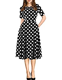 Amazon Com Polka Dot Women S Dresses