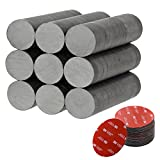 Netany 100 pcs Ceramic Magnets, 1 Inches Ferrite Magnets - Comes with 100 pcs 3M Adhesive Dots Set