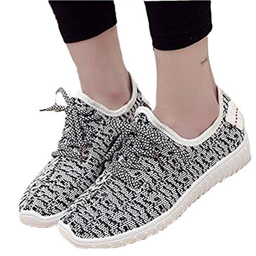 à gris Chaussures femmes lacets sport sport pour de de VECJUNIA chaussures 1gvpwtxq1n