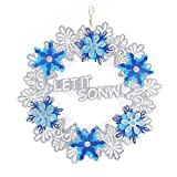 Yezijin Christmas Wreath, Romantic String Hanging Charm Party Decoration Christmas Tree Ornament Wreath Diameter: 35CM (B)
