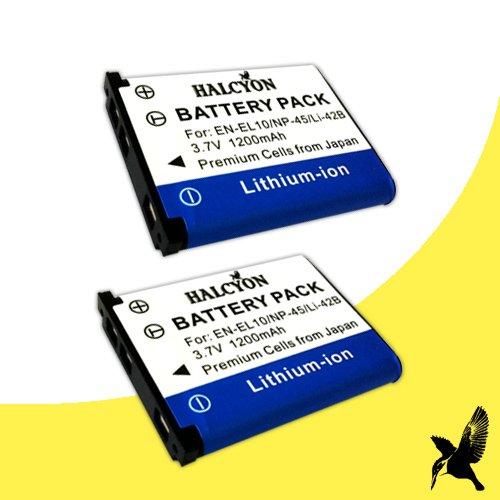TWO Kodak KLIC-7006 Lithium Ion Replacement Batteries for Kodak Easyshare Mini M200, M23, MD30, M522, M530, M531, M532, M550, M552, M575, Touch M577, M580, M583, M873, M883 Zoom Digital Cameras DavisMAX Kodak KLIC7006 Battery Bundle
