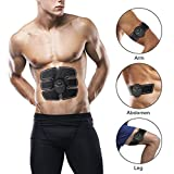 Abdominal Toning Belt EMS ABS Toner Body Muscle Trainer Wireless Portable Unisex Fitness Training Gear for Abdomen/Arm/Leg Training Home Office