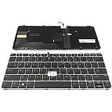 Replacement Backlit Keyboard For HP EliteBook 725 G3 820 G3 P/N: 826630-001 826630-B31 6037B0113601, US Layout Black Color