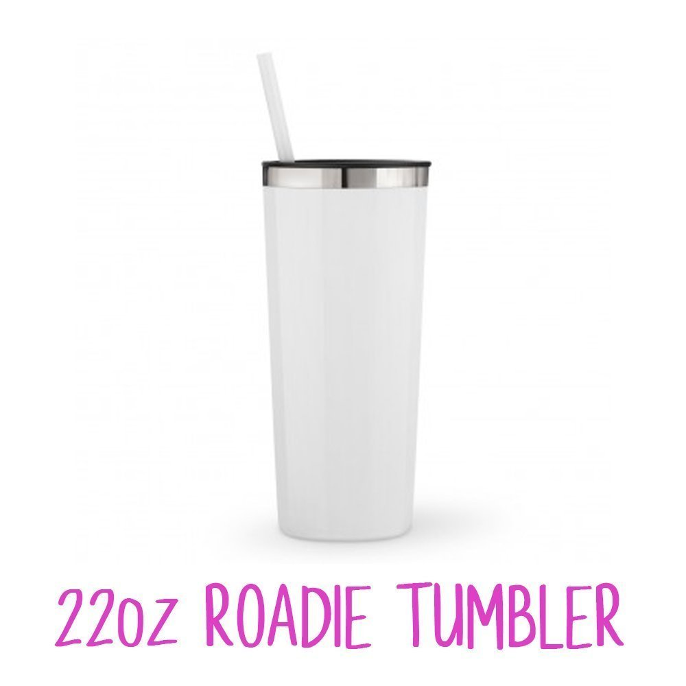 8b6fc08a24a ... Monogrammed Stainless Steel Tumbler w/Mermaid Inspired Vinyl Decal/20oz  Skinny or 22oz White