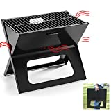 AIVISY Portable Barbecue Charcoal Grill X Style Foldable, Extra Large Grilling Surface