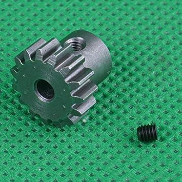 K-Fang-cl 1PC 1//10 Remo Moteur Moteur 0.8M Module 17T 19T Engrenages en M/étal 3.17mm 5mm Trou Pignon Pignon for Slash727 RC Voitures Pi/èces 15T Couleur : 15T 3.17mm Hole