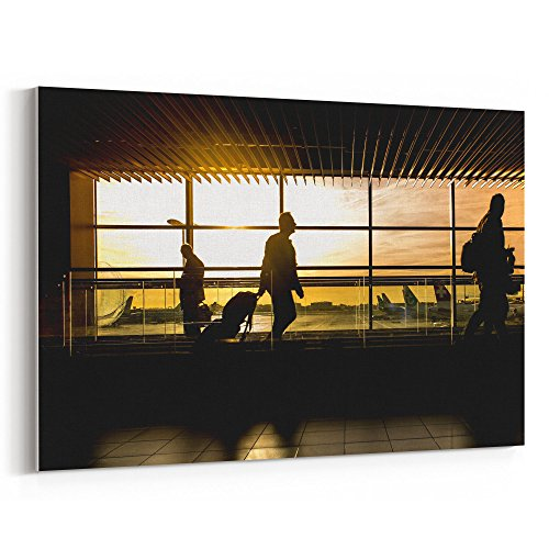 Westlake Art - Airport International - 12x18 Canvas Print Wall Art - Canvas Stretched Gallery Wrap Modern Picture Photography Artwork - Ready to Hang 12x18 Inch ()