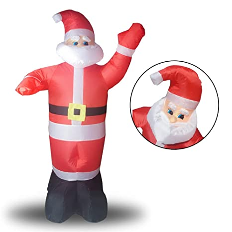 zq inflatable christmas xmas santa claus kriss kringle yard party holiday decorations lighted airblown giant