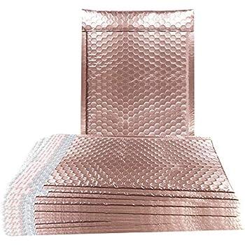 Amazon.com: Paquete de 25 sobres de burbujas de oro rosa 5 x ...