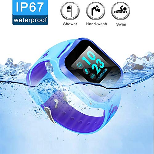 LJRYCQSSZSF Kids Smart Watch Phone GPS Tracker Ip67 Waterproof Kids Smartwatches Age 3-15 Boys Girls Touch Screen SIM Slot Educational Toys Phone 1.44 Inch Birthday Gift (Blue) by LJRYCQSSZSF (Image #6)