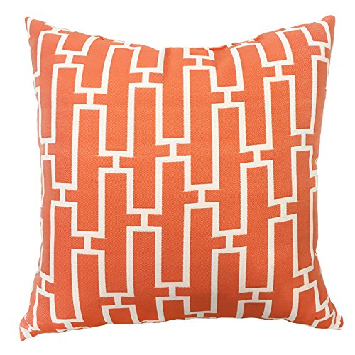 """Rodeo Home Westfield Decorative Outdoor Pillows for sofa, couch Set of 1 Size 20""""x20"""", (Orange, 20x20) from Rodeo Home"""