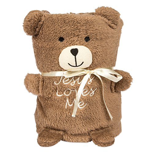 Brownlow Gifts Jesus Loves Me Blankie, Teddy Bear by Brownlow Gifts