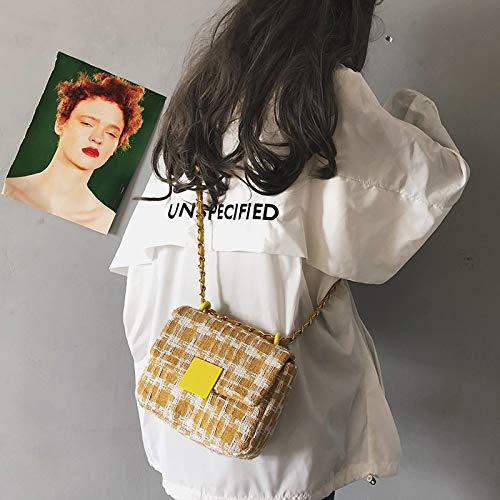 Messenger Bag Small Plaid Bag Ladies Bag Wool Chain Girl Wm qtRf4wR