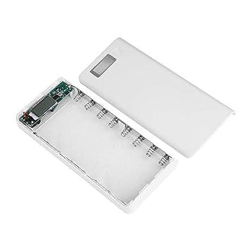 Zerone 8 Ranuras – Cargador Universal para 3,7 V IMR LI-Ion 18650 baterías con Puertos USB y Pantalla LCD