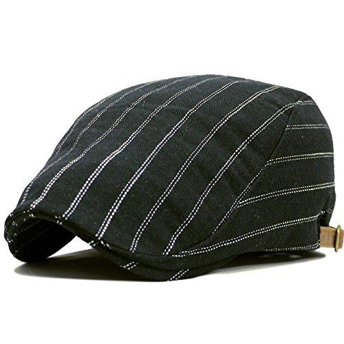 帽子 ハンチングシンプルストライプ