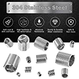 Rustark 84 Pcs 304 Stainless Steel Metric M3 M4