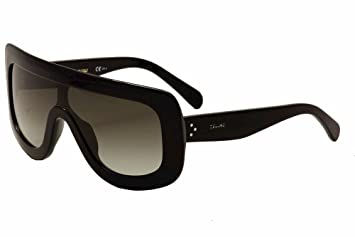 8eeb8eccdc92 Celine 41377 S 807 Black 41377S Visor Sunglasses Lens Category 2 Size 99mm