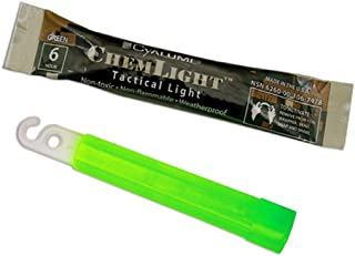 "product image for Cyalume 9-74780 ChemLight Military Grade Chemical Light Sticks – 6 Hour Duration Light Sticks Provide Intense Light, Ideal as Emergency or Safety Lights, for Tactical Applications, Hiking or Camping and Much More, Standard Issue for U.S. Military Personnel – Green, 4"" Long (Pack of 100)"