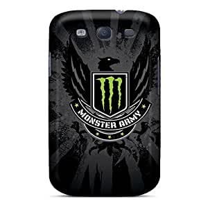 Samsung Galaxy S3 LMx11250KQqO Unique Design Trendy Monster Army Pattern Great Hard Phone Case -InesWeldon