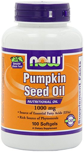 NOW Foods - Pumpkin Oil 1000 mg. - 100 Softgels ( Multi-Pack) (One Pumpkin)