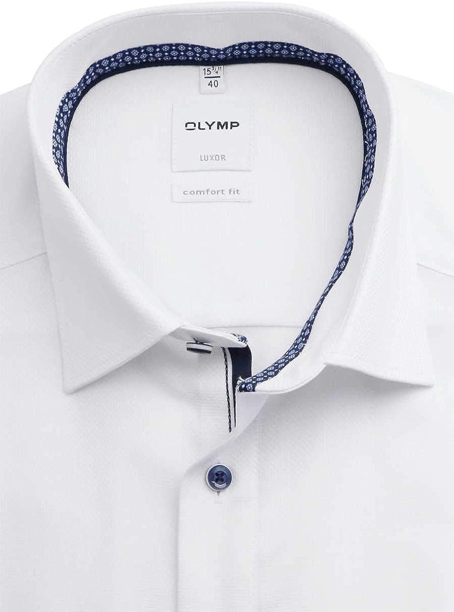 OLYMP Camisa de manga larga para hombre, de lujo, monocolor, ajuste cómodo, New Kent