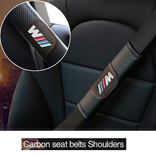 s-weka Neue BMW//////M Modified Anpassung Carbon Fiber Sicherheitsgurt Bezug Schulter Pad Kissen f/ür BMW 2/Pcs