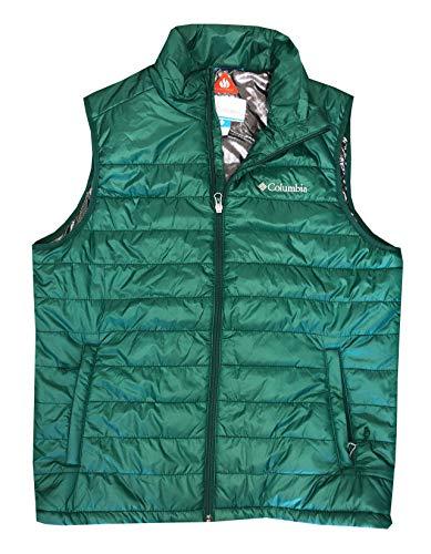 Columbia Men's Crested Butte II Omni-Heat Puffer Vest Jacket (M, Forest Green)
