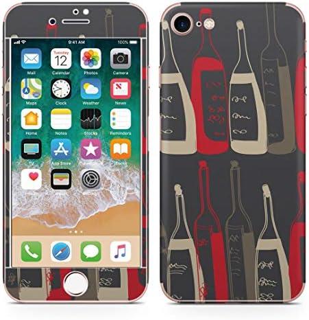 igsticker iPhone SE 2020 iPhone8 iPhone7 専用 スキンシール 全面スキンシール フル 背面 側面 正面 液晶 ステッカー 保護シール 008719 ユニーク お酒 イラスト シック