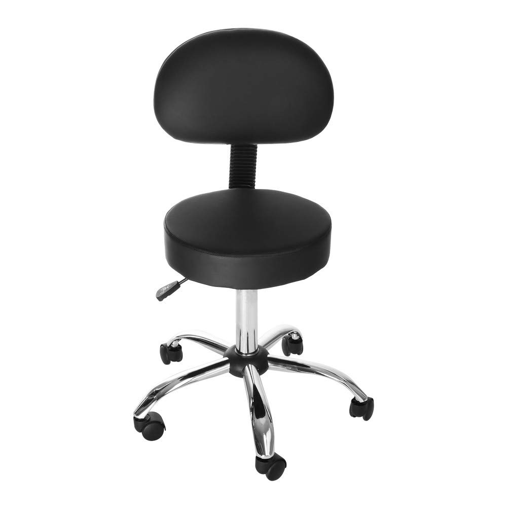 Hydraulic Salon Chair, Office Chair Beauty Rolling Swivel Salon Stool- Work Bench Bar Chair, Height Adjustable, Office, Home Life, Beauty Salons, etc - Black(US Stock)