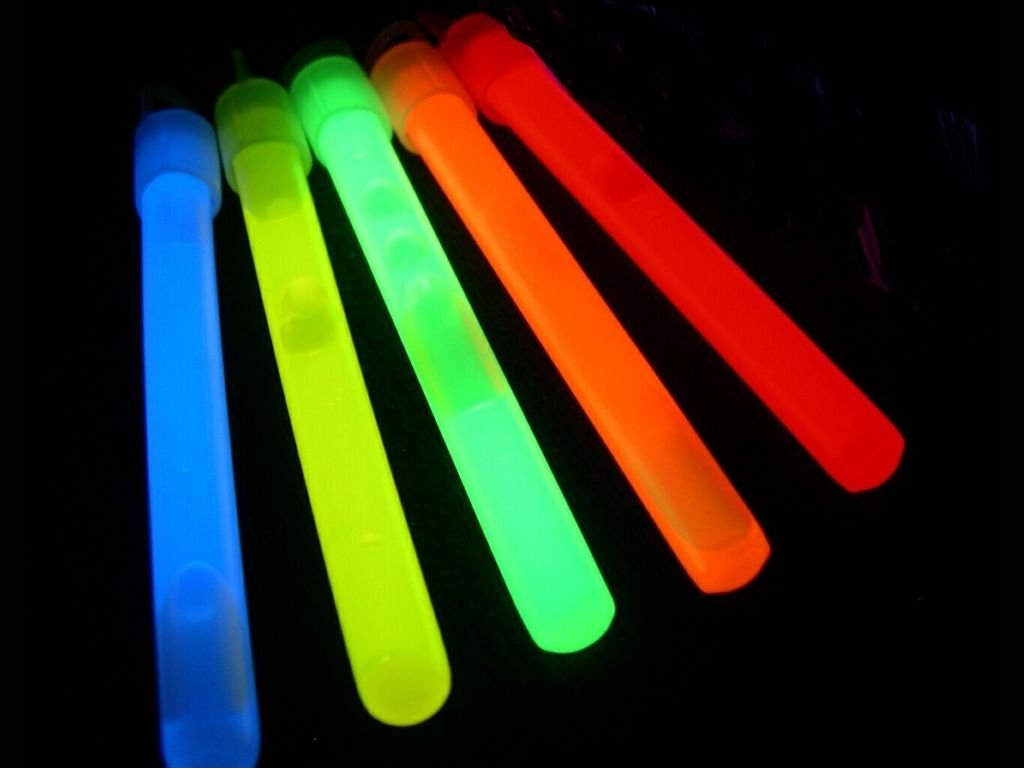 "Glow With Us Glow Sticks Bulk Wholesale, 50 4"" Glow Stick Light Sticks. Assorted Bright Colors, Kids Love Them! Glow 8-12 Hrs, 2-Year Shelf Life, Sturdy Packaging, Brand"
