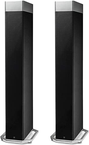Definitive Technology BP9080x High Performance Bipolar Tower Speaker with Integrated 12 Subwoofer and ATMOS Height Module – Pair Black