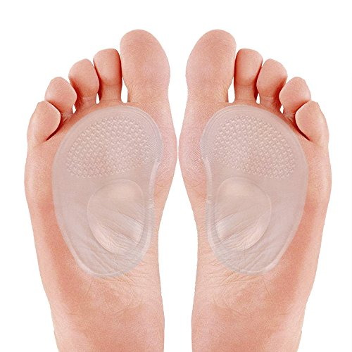 2*Gel Ball of Foot Pain Relief Silicone Padded Forefoot Cushion Sleeve Mortons Neuroma Metatarsal Foot Pads For Women's High Heel & Men (Heel Fat Pad)
