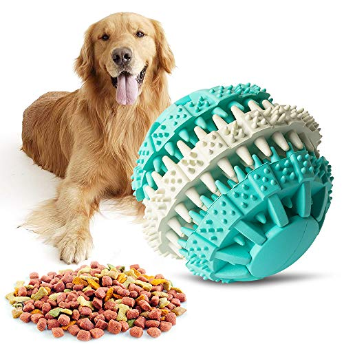 Dog Chew Toys, Nontoxic Resistant Chew Roller Ball Toy for Pet Dogs Cat, Interactive Durable Rubber Pet Ball, Best…