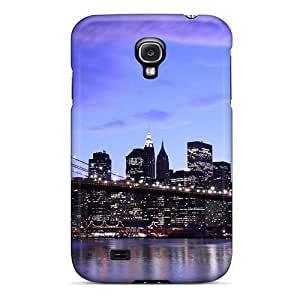 New Style Case Cover NRM1694jtWA New York Brooklyn Bridge City Architecture Compatible With Galaxy S4 Protection Case