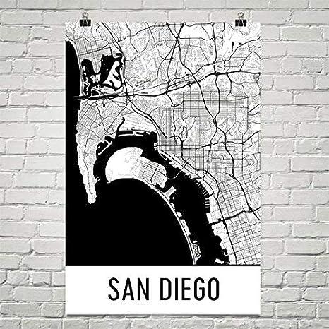 San Diego Poster San Diego Art Print San Diego Wall Art San Diego Map San Diego City Map San Diego California City Map Art San Diego Gift San Diego Decor 24