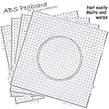 H&W 5mm Fuse Beads Boards, Large Clear Pegboards