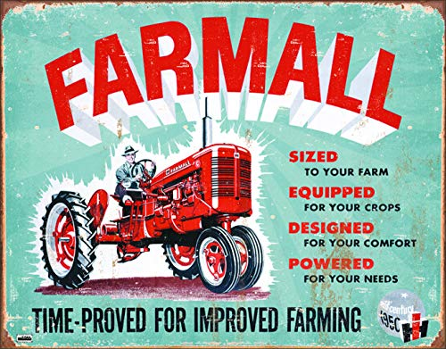 Farmall Tractor Signs - Desperate Enterprises Farmall - Model A Tin Sign, 16